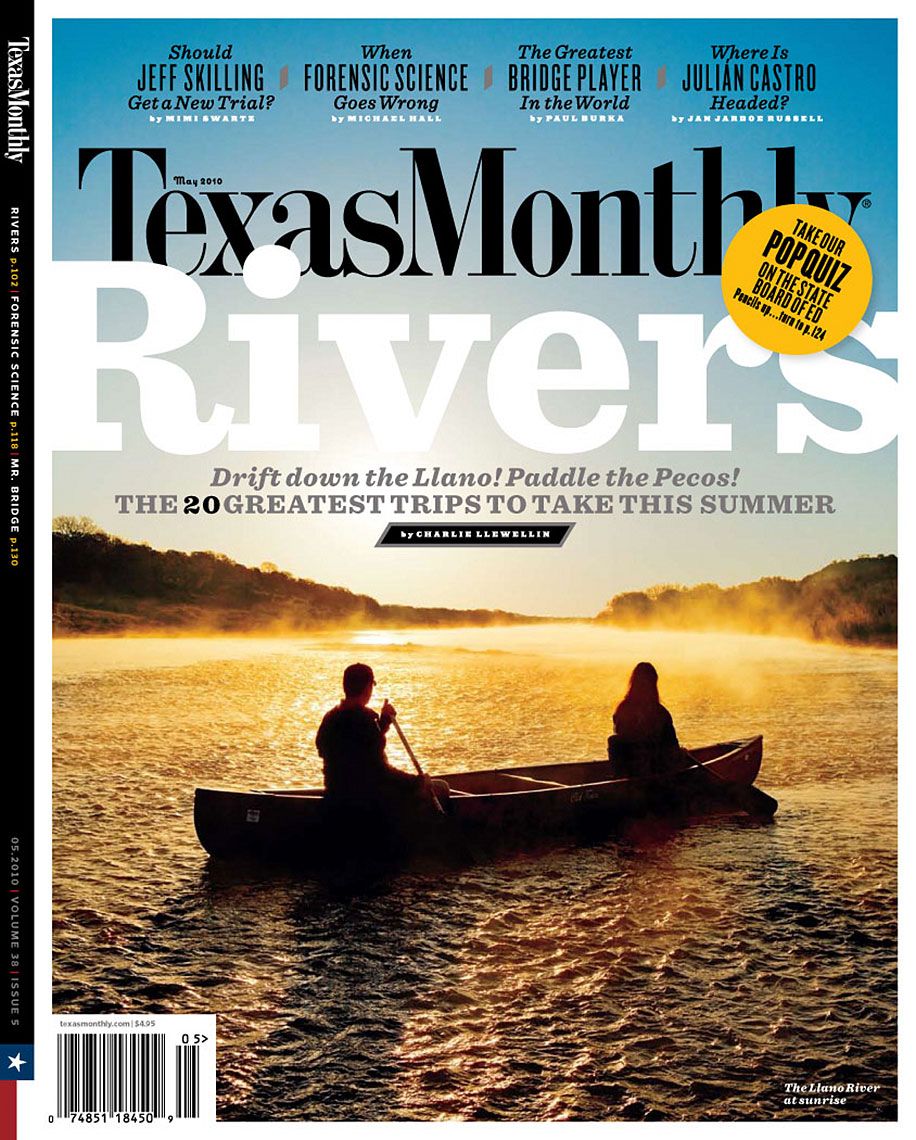 Texas Monthly - James River canoe