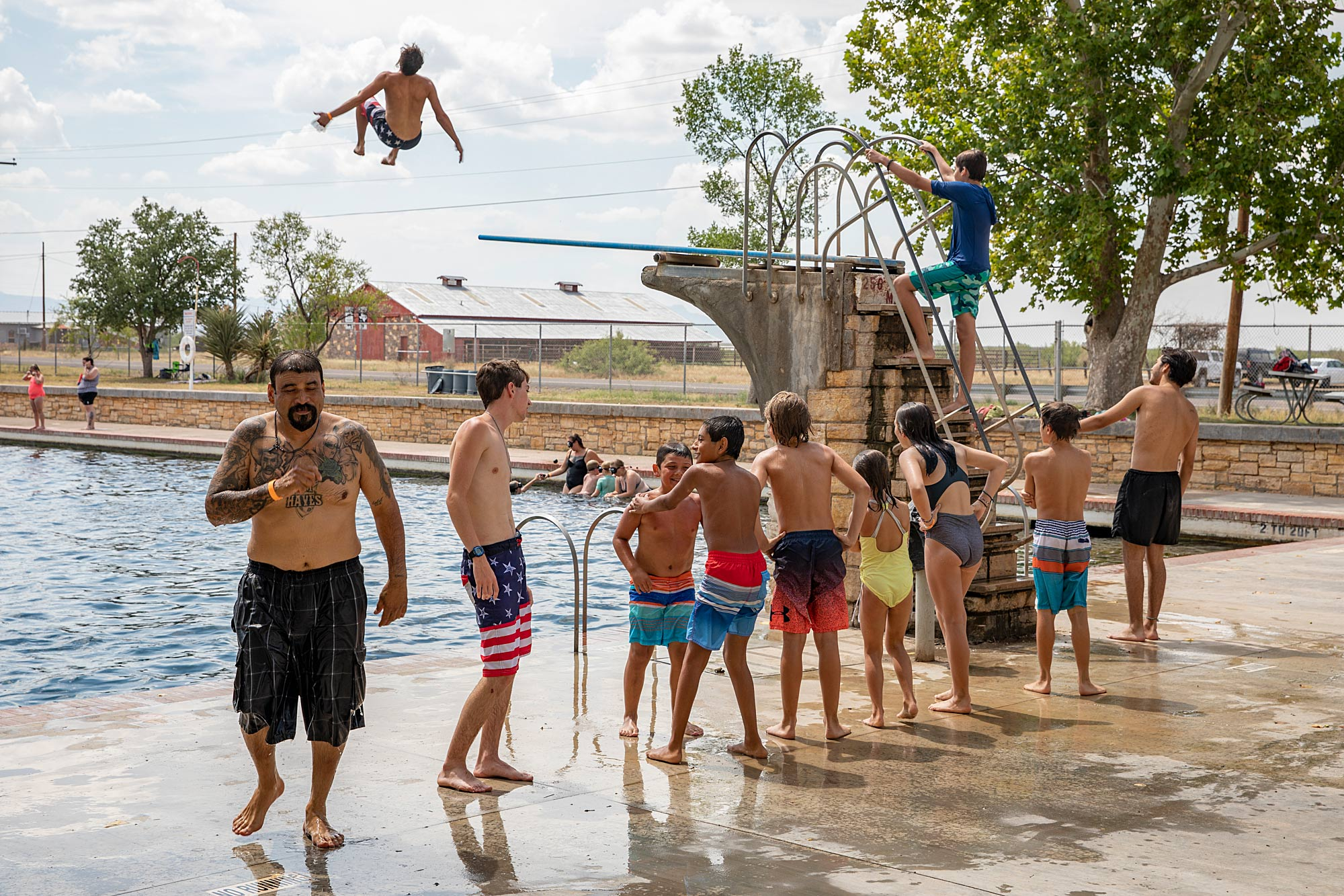 The high dive at  Balmorhea State Park Swimming Pool