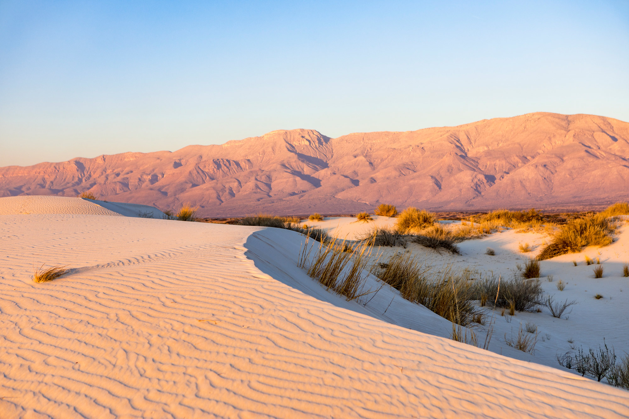 Gypsum Sand Dunes - Guadalupe Mountains State Park