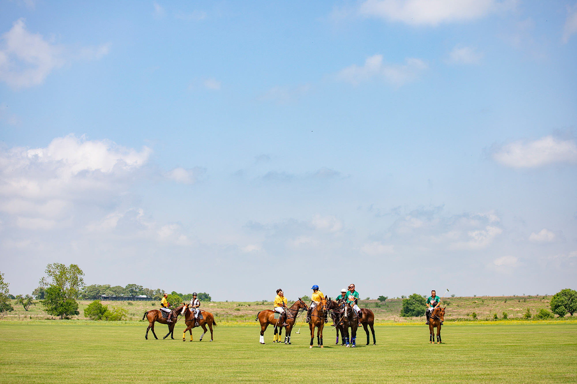 Polo players.
