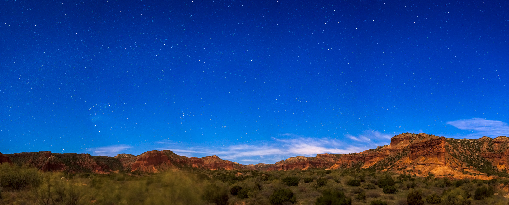 Stars over Caprock Canyons State Park, Texas