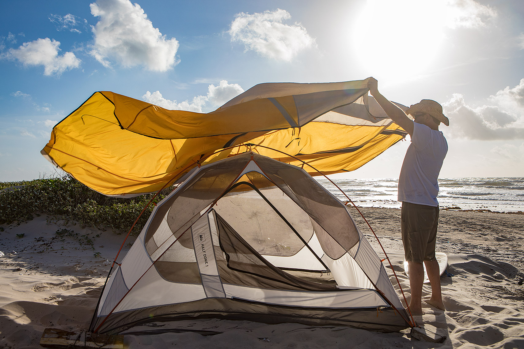 Tent on Padre Island National Seashore