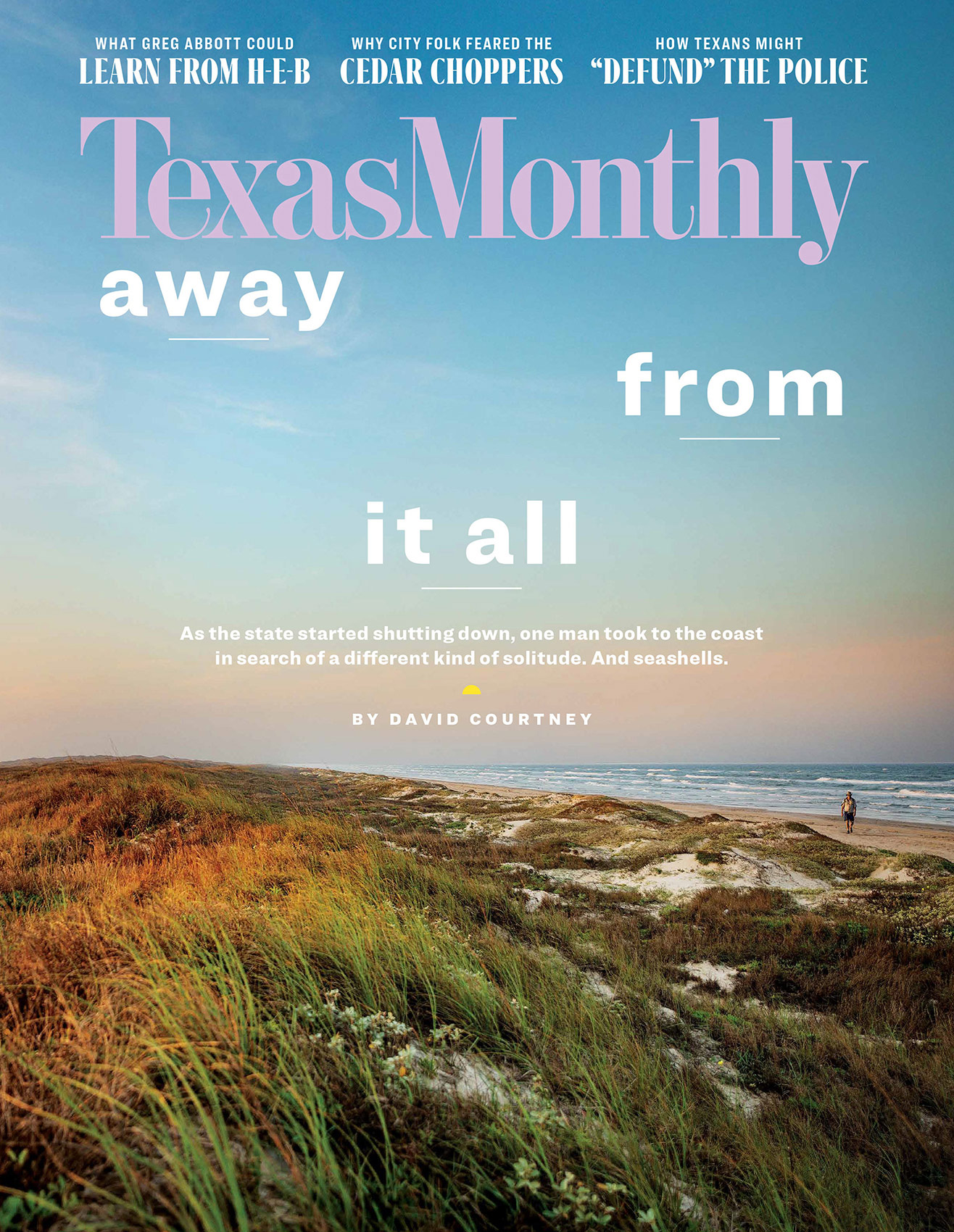Texas Monthly August 2020 cover