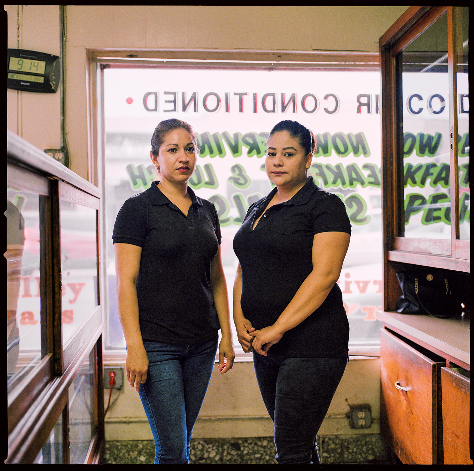 Waitresses at historic Rex Cafe - Texas Rio Grande Valley
