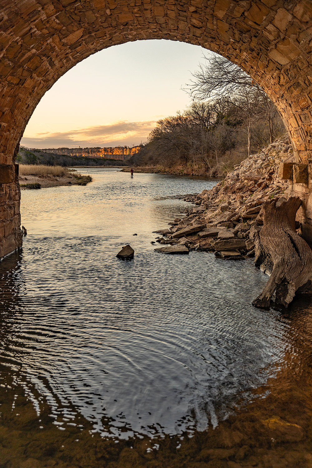 Bridge Arch over the Brazos River on Highway 16