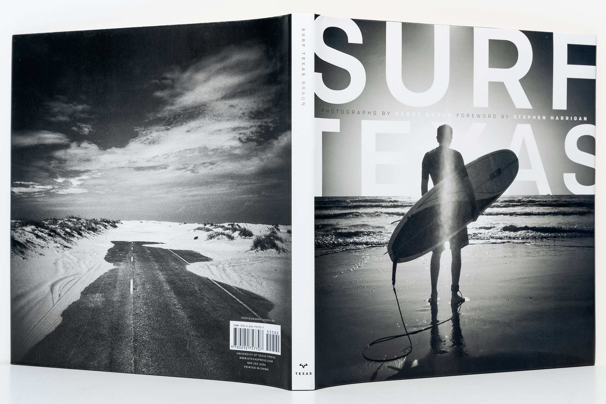 Surf Texas Book Jacket design by Pentagram