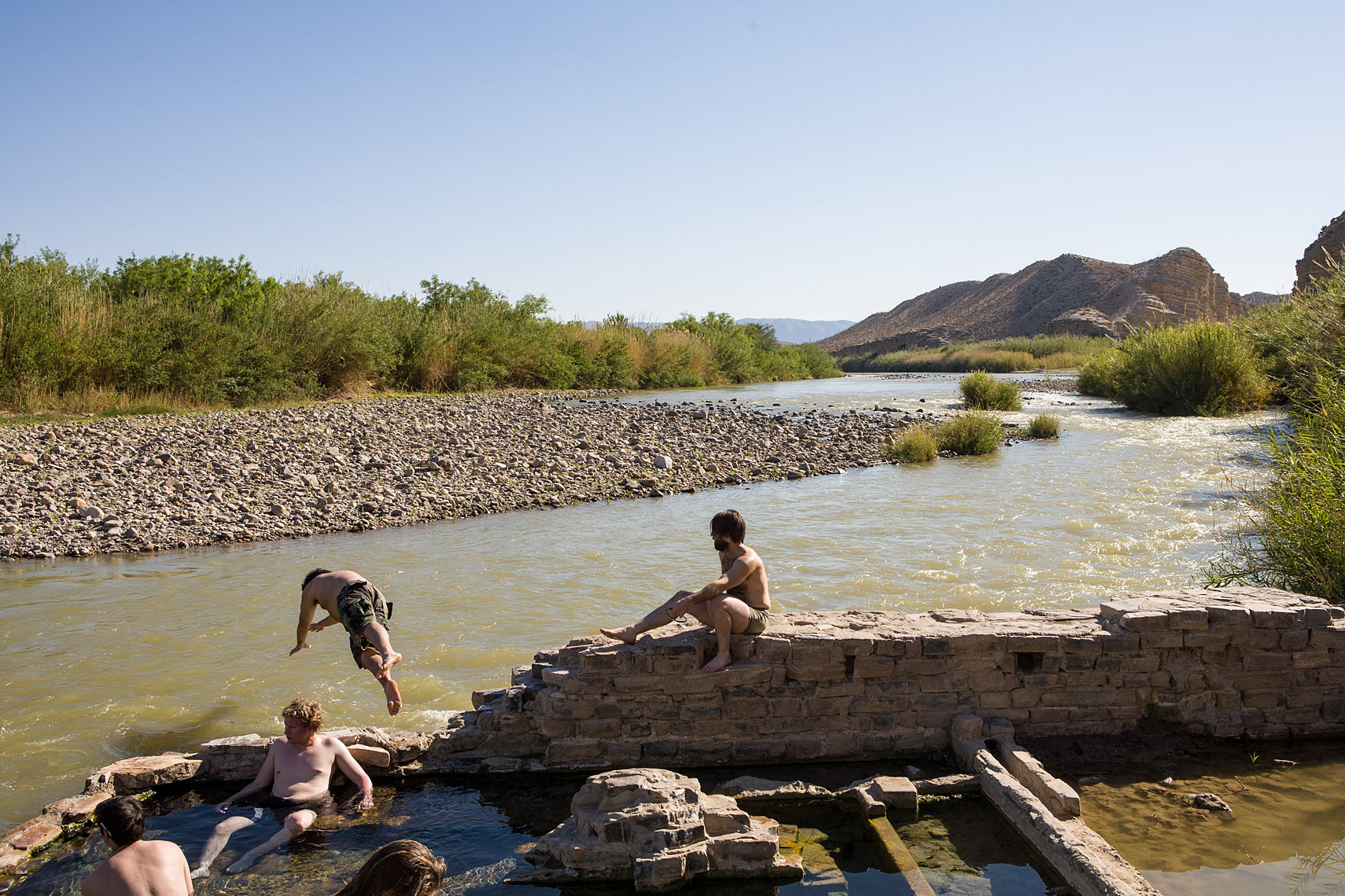 Hot Springs - Rio Grande River - Big Bend