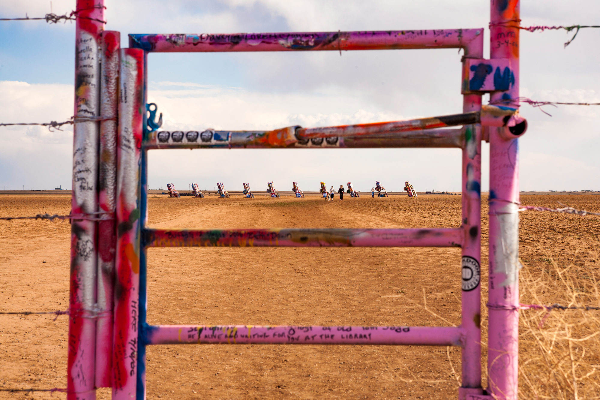Cadillac Ranch near Amarillo, Texas