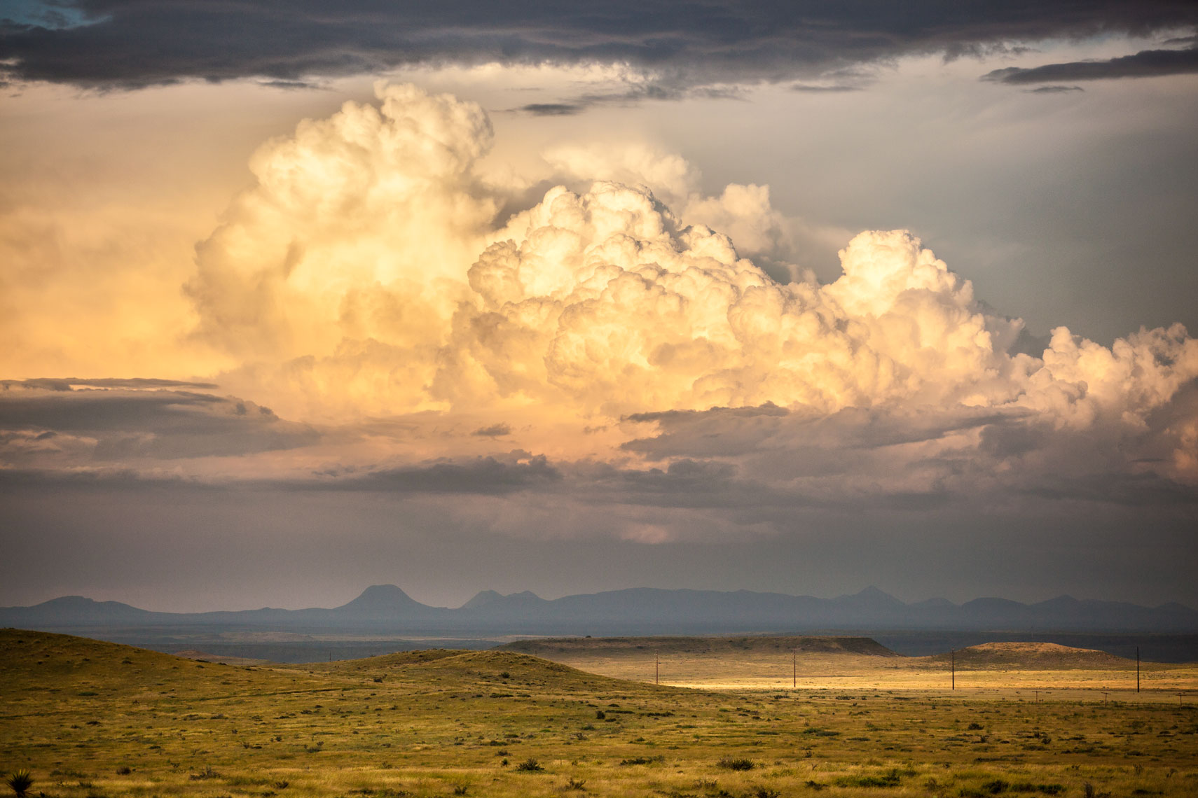 West Texas Clouds Landscape