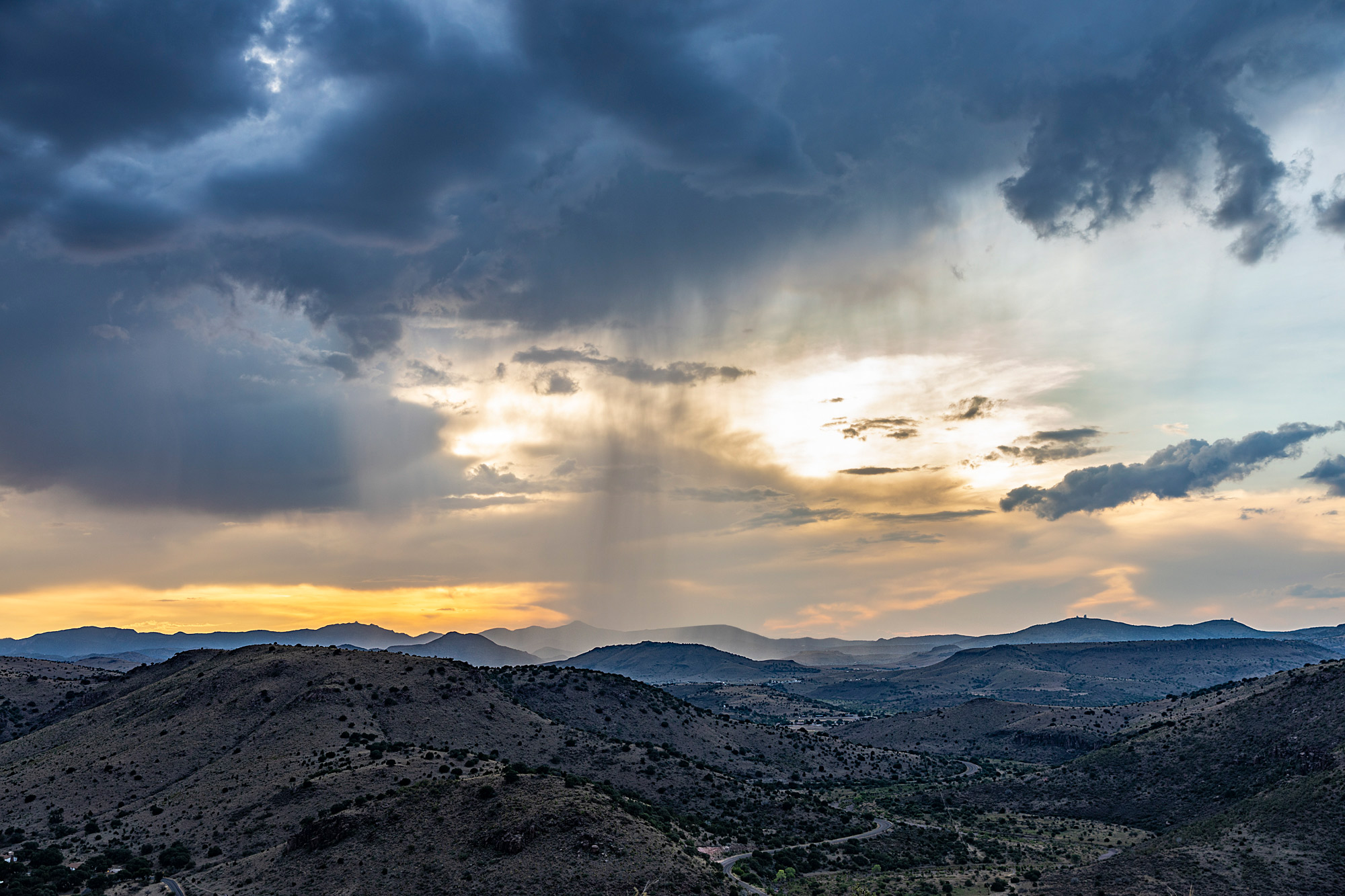 Rain in the Davis Mountains